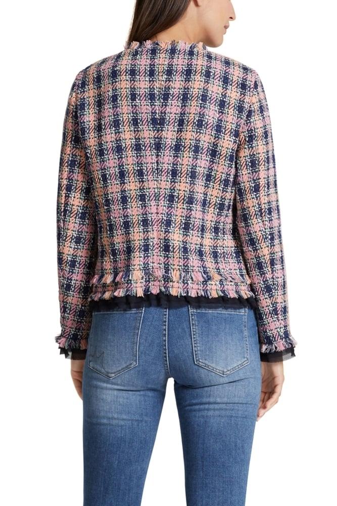 marc cain summer tweed jacket in blossom at sue parkinson. Black Bedroom Furniture Sets. Home Design Ideas