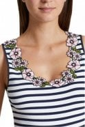 Marc Cain Top with Appliqué in Midnight Blue