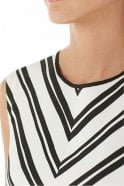 Marc Cain Top with Peplum in Panna