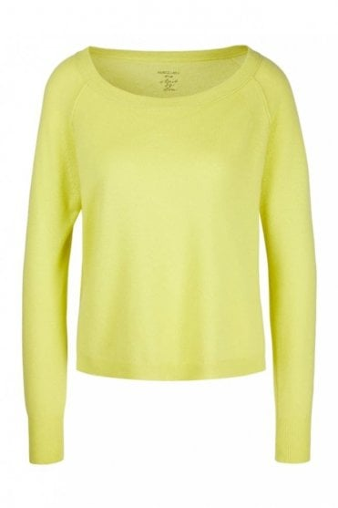 Wide Cashmere Sweater in Limoncello