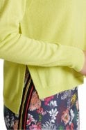 Marc Cain Wide Cashmere Sweater in Limoncello