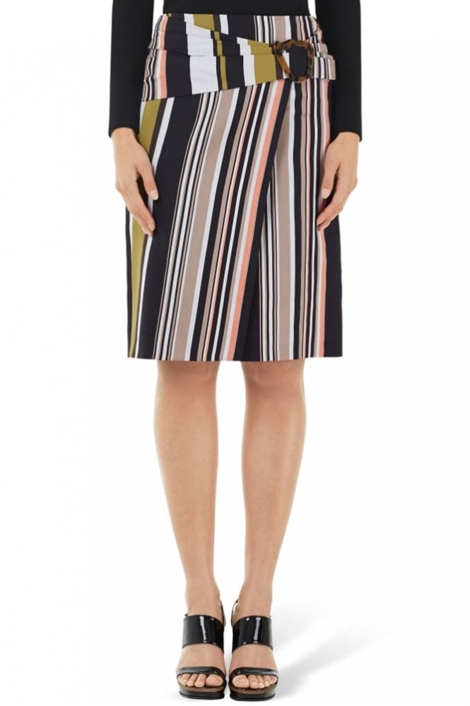 Marc Cain Wrap-Around Skirt with Silk in Bamboo