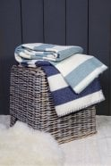Melin Tregwynt Broadstripe Throw in Topaz