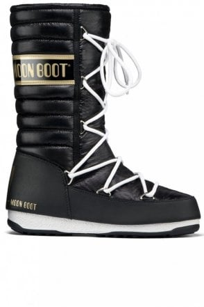 We Quilted Winter Boot in Black and Gold