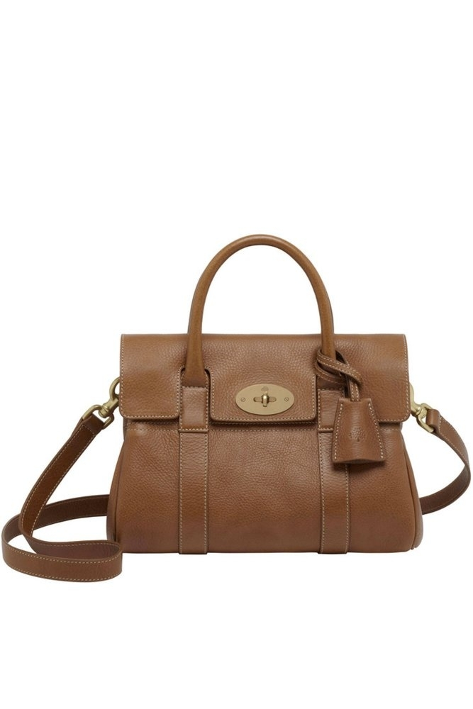 010d411d91 Mulberry Small Bayswater Satchel Oak Natural Leather with Brass at ...
