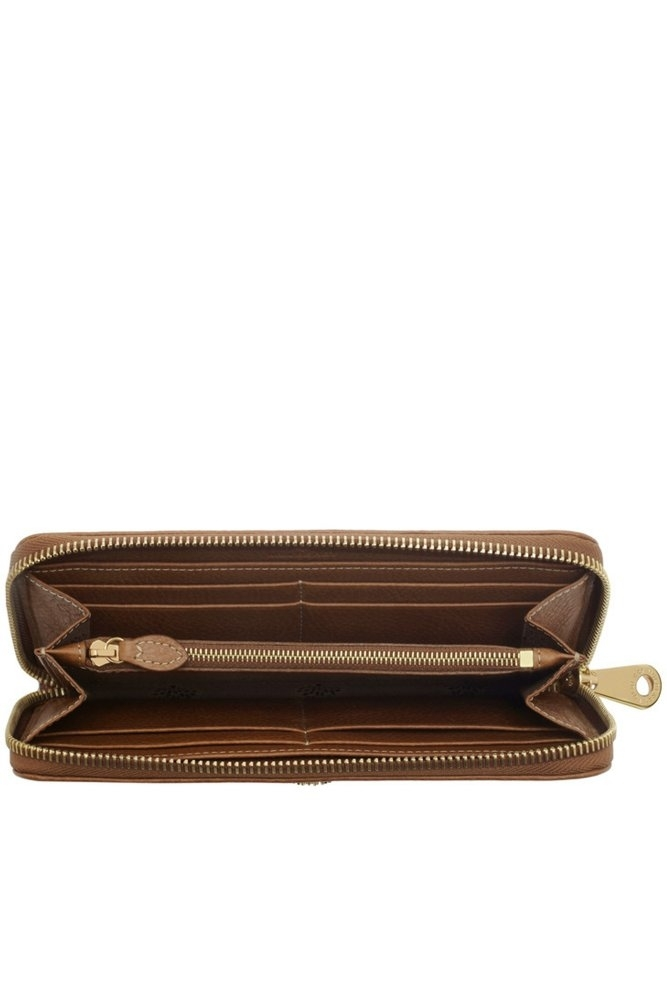 5e29ddbb3e ... inexpensive mulberry tree zip around wallet oak natural leather 34807  d9e5a