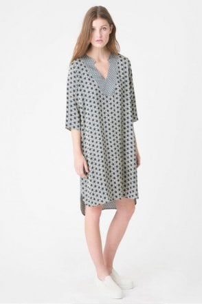Keenan Tunic Dress in Indigo