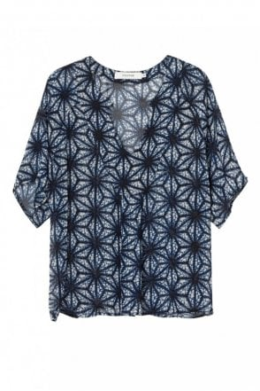 Kody Blouse in Indigo