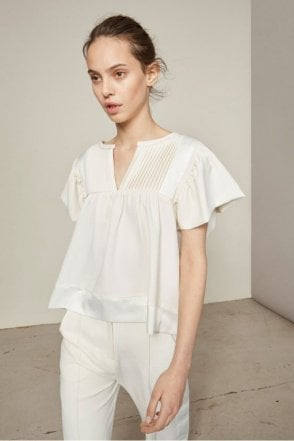 Labour Blouse in Ivory