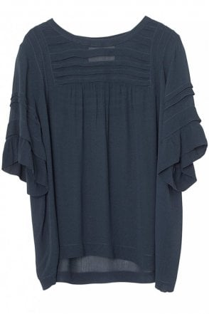 Livia Blouse in Indigo
