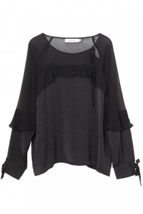 Maidera Chiffon Top in Black
