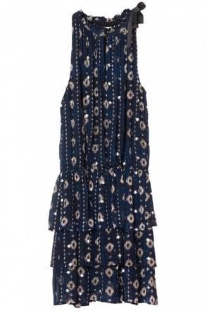 Maria Dress in Indigo