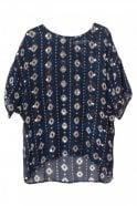Munthe Marokko Print Top in Indigo