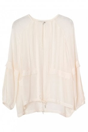 Masha Chiffon Top in Ivory