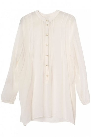 Michelle Chiffon Top in Ivory