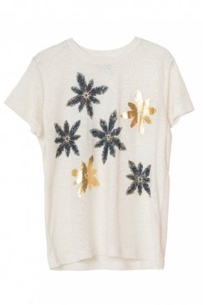 Mocca T-shirt in Ivory