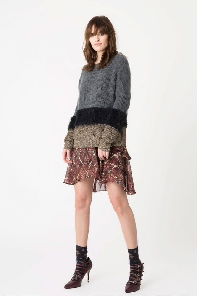 Munthe Ole Fluffy Mohair Knit in Charcoal