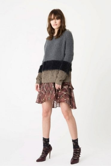 Ole Fluffy Mohair Knit in Charcoal