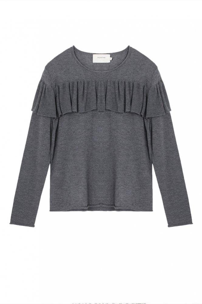 Munthe Olga Frill Sweater in Grey