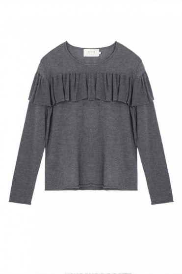 Olga Frill Sweater in Grey
