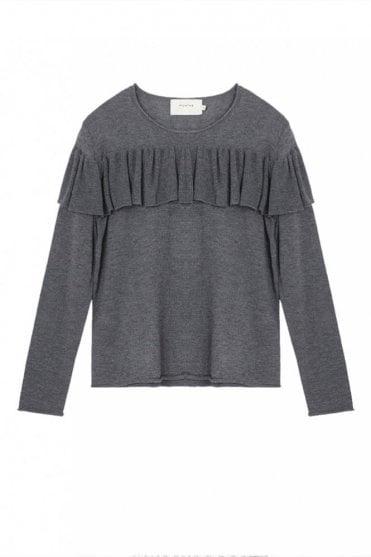 Olga Frill Sweater in Grey