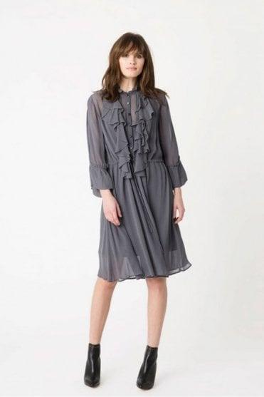 Omaja Dress in Charcoal
