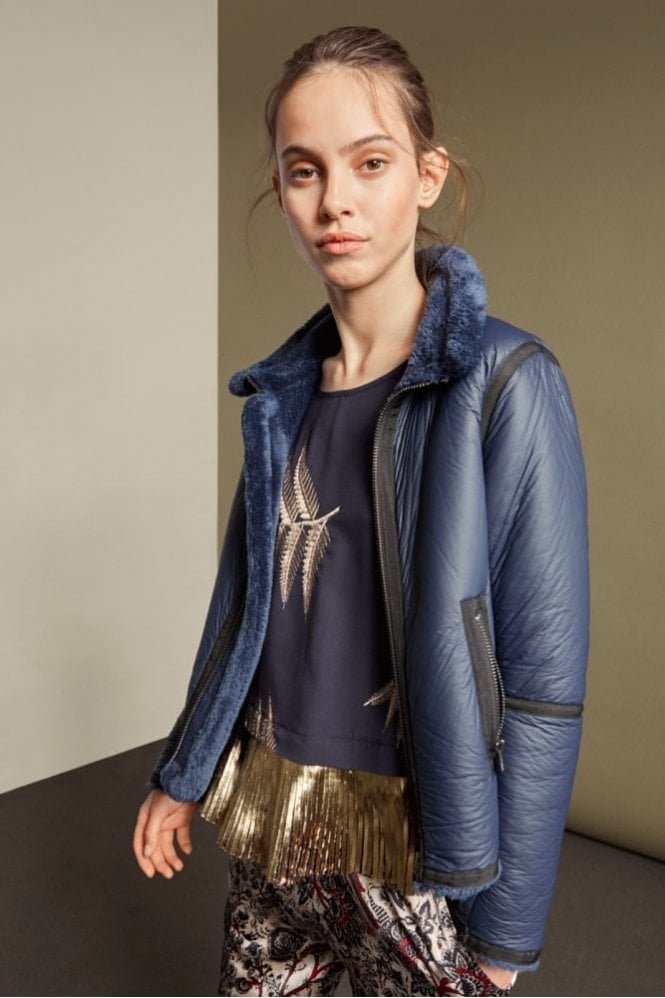 Munthe Opium Jacket in Indigo