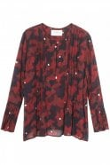 Munthe Oreo Camouflage Georgette Blouse in Red