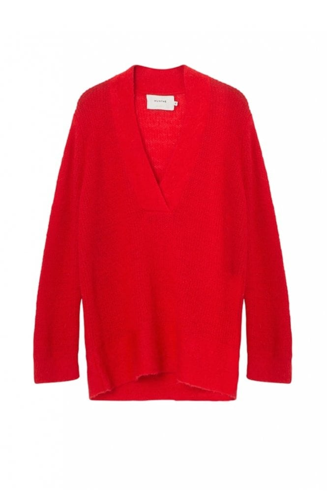 Munthe Ox Mohair Sweater in Red