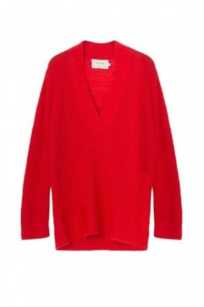 Ox Mohair Sweater in Red