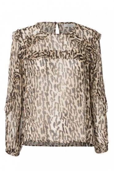 Panda Leopard Print Blouse