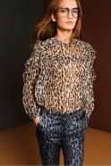 Munthe Panda Leopard Print Blouse
