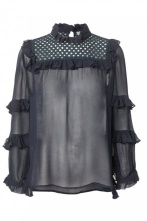 Passion Blouse in Indigo