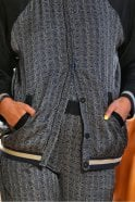 Munthe Titus Silky Print Reversible Bomber Jacket