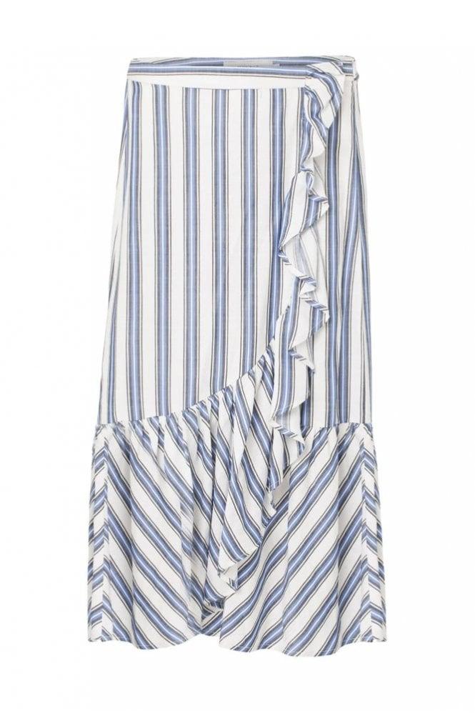 Munthe Twiggy Skirt in Blue/Ecru