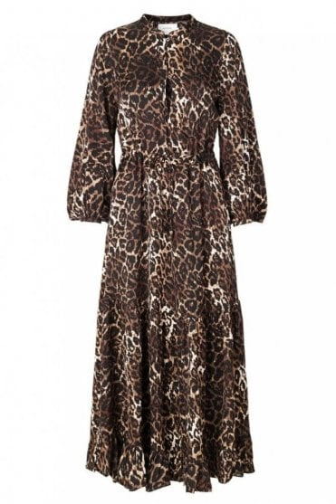 Vest Leopard Print Dress