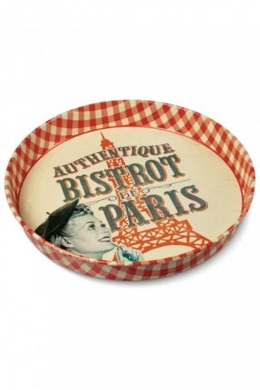Bistrot de Paris Round Metal Tray