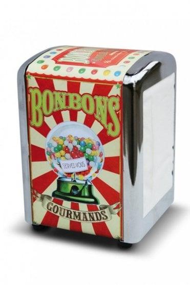 Bonbons Gourmands Retro Napkin Dispenser