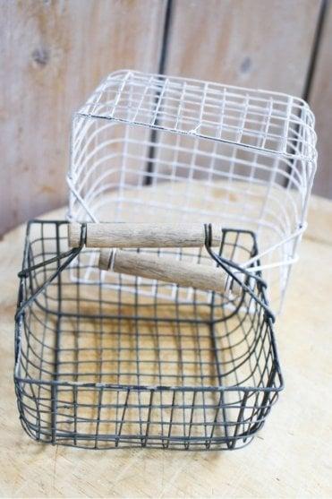 Alama Square Basket in Grey