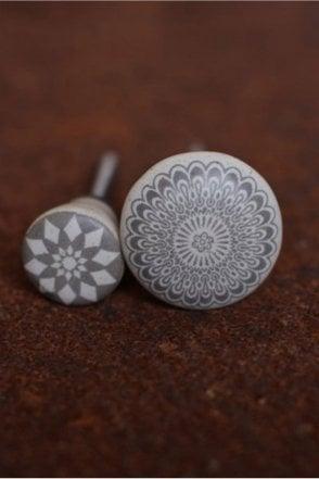 Amadi Taupe Ceramic Knob