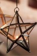 Nkuku Antique Brass Glass Star