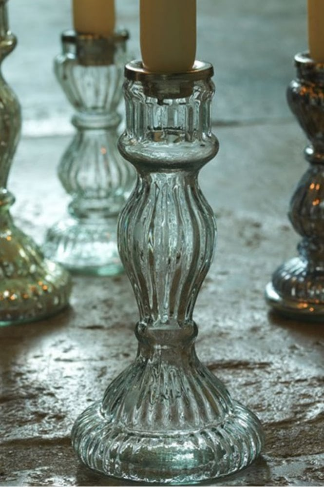 Nkuku Antique Glass Candlestick