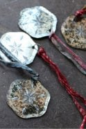 Nkuku Antique Snowflake Mirror Bauble