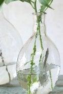 Nkuku Assini Hammered Glass Bottle