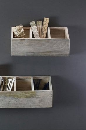Baya Mango Wood Storage Shelf