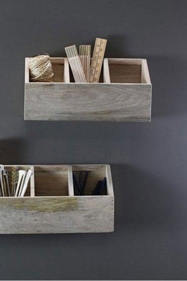 Baya Mango Wood Storage Shelf