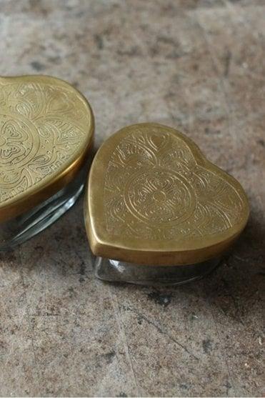 Beme Brass Heart Pot