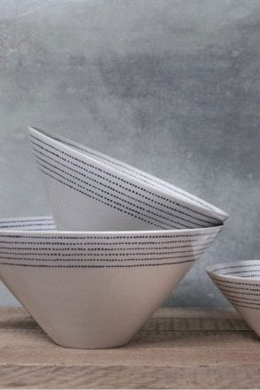 Bria Ceramic Serving Bowl – Indigo