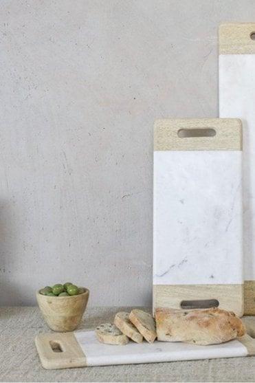 Bwari Marble Platter – White