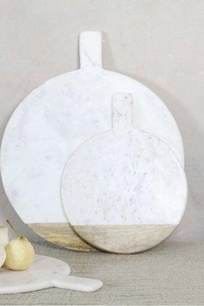 Bwari Round Marble Board - White